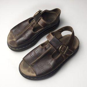 Dr Martens Brown Casual Platform Sandals